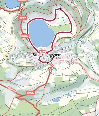 Karte / MICHELS WellnessHotel:  Maarerlebnis Rundweg 1