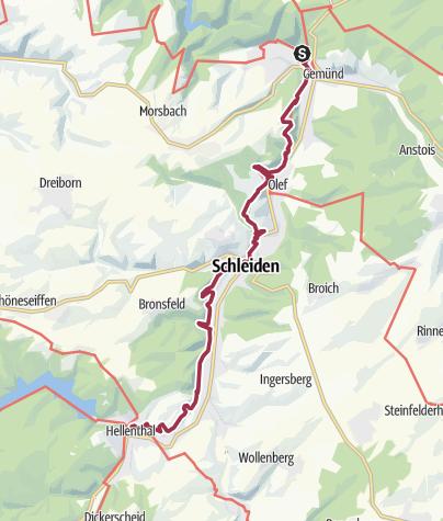 Karte / Nordeifel: Rur-Olef-Route 01. Etappe Gemünd-Hellenthal