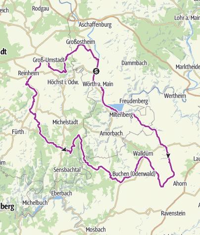 Karte / 3-Länder-Rad-Event 31. Juli bis 2. August 2017