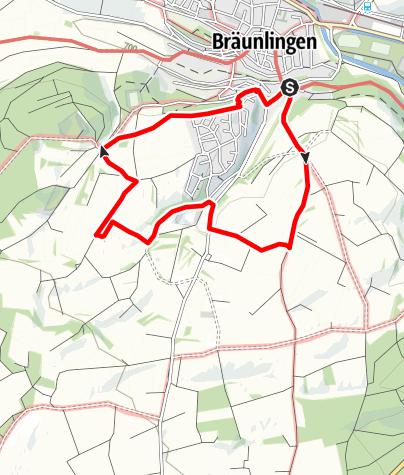 Karte / Heckenerlebnispfad Bräunlingen