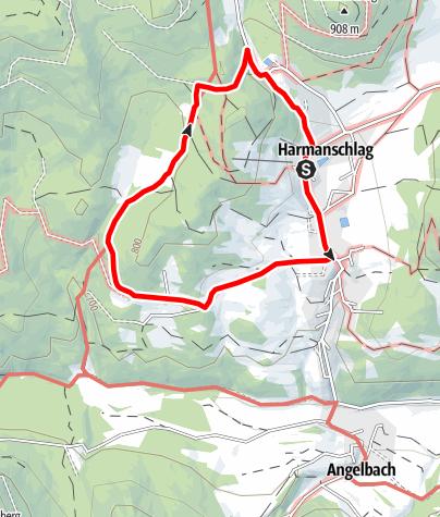 Mapa / Rundweg in St. Martin