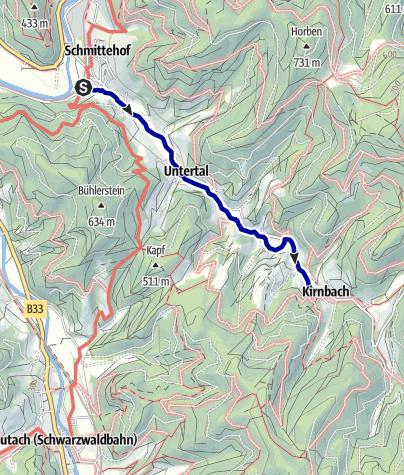 "Karte / Karl-Wöhrle-Weg - ""Kirnbacher Bollenhut Talwegle"""