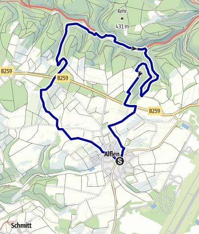 Karte / Wacholder-Endert Pfad (Rundtour: Alflen)