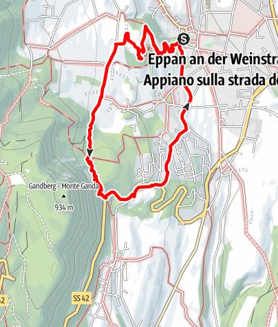 Mapa / Über die Gleifkirche zu den Eislöchern