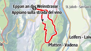Kaart / Von St. Michael zu den Montiggler Seen