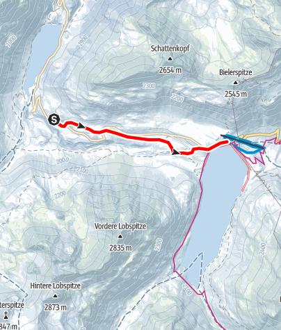 Karte / Variante 1: Großvermunt zum Silvrettasee
