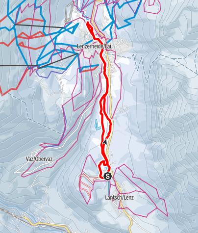 Map / Lantsch/Lenz - Lenzerheide - Lantsch/Lenz