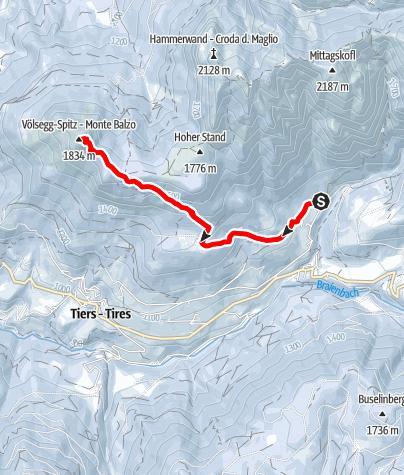 Map / Snowshoeing on Monte Cavone/Tschafon