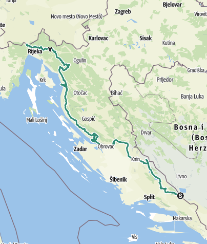 Map / CROATIA | MY Via Dinarica White Trail