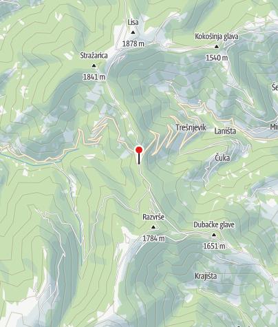 Map / Kafana Krčma Trešnjevik