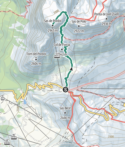 Cartina / Trekking al Rifugio Maria al Sass Pordoi