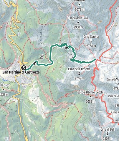 Cartina / Trekking al Rifugio Giovanni Pedrotti alla Rosetta