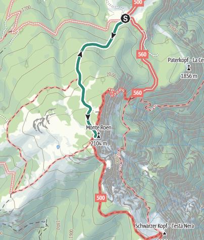 Cartina / Passeggiata dal Rifugio Malga di Romeno al Monte Roen