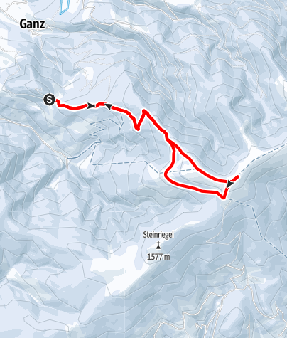 Karte / Schneeschuhwanderung auf die Amundsenhöhe