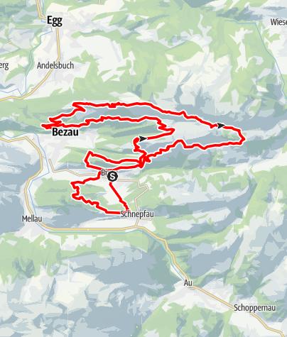 Karte / Bizau | Ultra