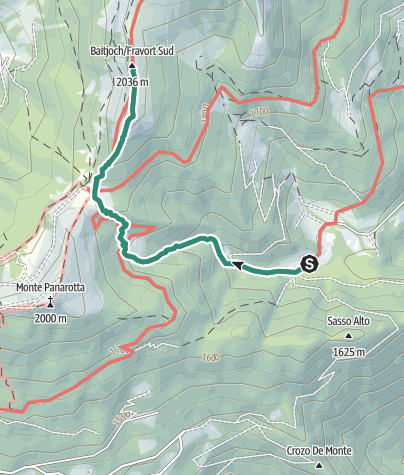 Cartina / Trekking dal Rifugio Erterle al Monte Fravort