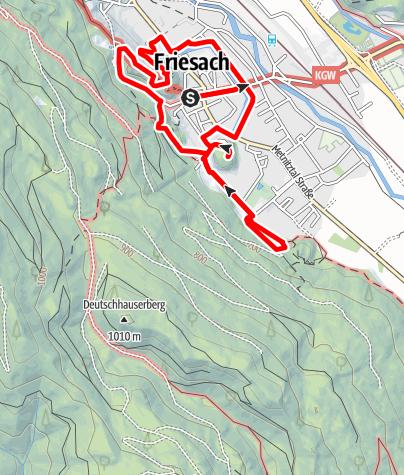 Karte / Burgenwanderweg Friesach