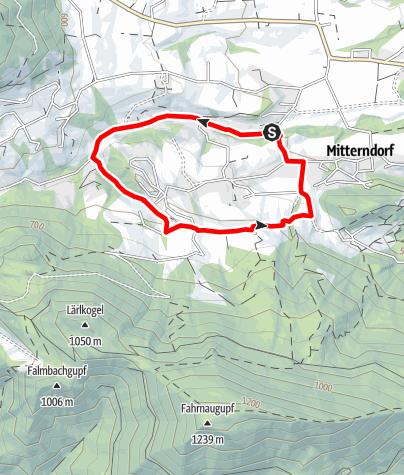 Karte / Mühlbachberg Runde