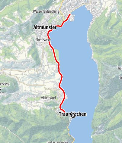 Karte / Seeufer Strecke 1 (nach Gmunden)