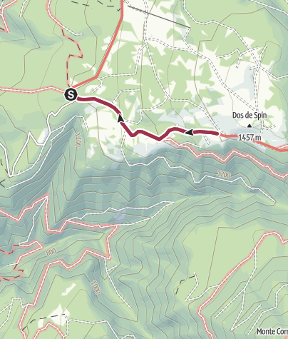 Map / Walk from Rifugio Sores to Rifugio Predaia