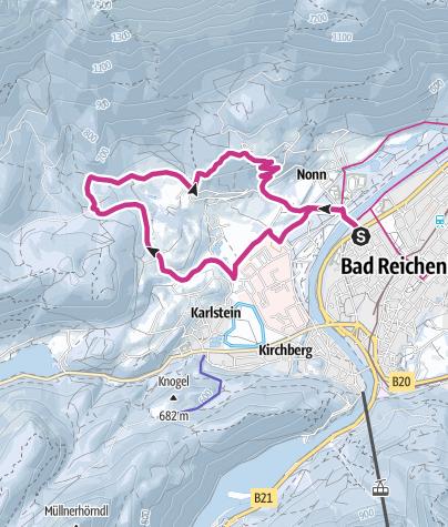 Karte /  Winterwanderung durchs Nonner Ober- und Unterland