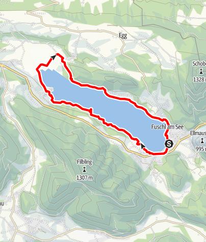 Karte / Fuschlsee Runde