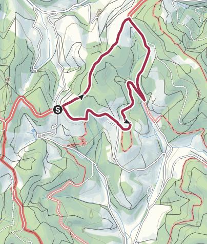 Karte / Tour 1k: Rund ums Kohlenbacher Obertal (2021,07)