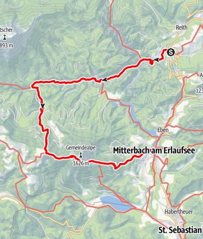 Karte / Wanderung durch Schluchten und über Höhen!