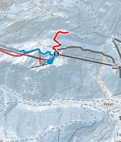 Kaart / Caischavedra Stavel Streckentour