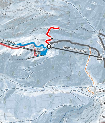 Karte / Caischavedra Stavel Streckentour