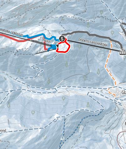 Karte / Caischavedra  Mises Rundtour