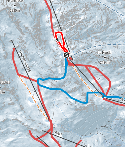 Kaart / Lai Alv Rundtour