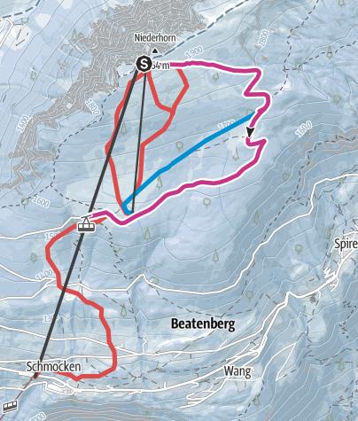 Karte / Winterwanderweg Niederhorn - Vorsass