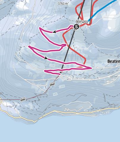 Map / Winterwanderweg Vorsass - Beatenberg