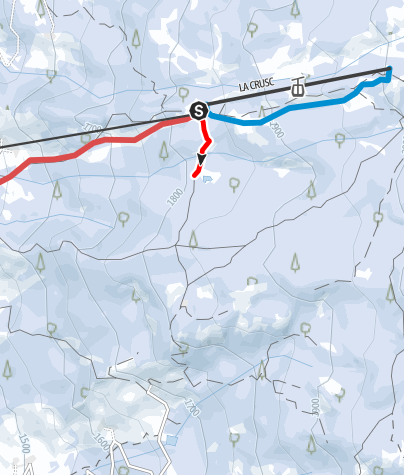 Karte / Schneeschuhwanderung zum Lech Dlá Lé See