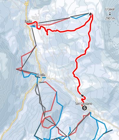 Mappa / Escursione con ciaspole da San Cassiano a Badia per Santa Croce