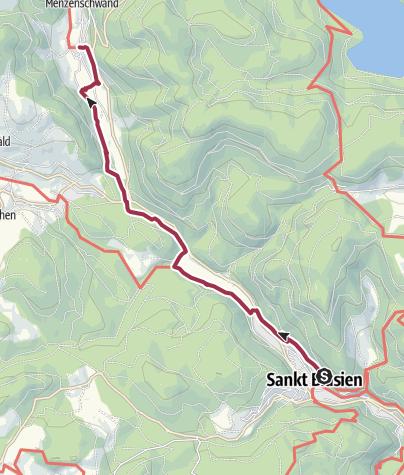 Karte / Albsteig Schwarzwald Etappe 4 Tour Ost: St. Blasien - Menzenschwand Genießer