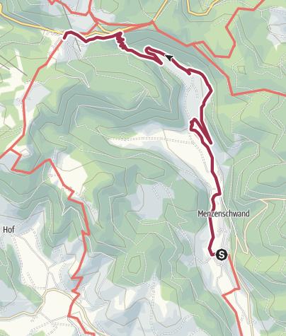Karte / Albsteig Schwarzwald Etappe 5 Tour Ost: Menzenschwand - Feldberg Passhöhe Genießer