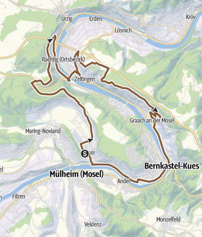 Karte / Genuss Graveltour mit Biss