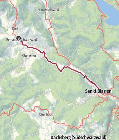 Karte / Albsteig Schwarzwald Etappe 4 Tour West: St. Blasien - Bernau Genießer