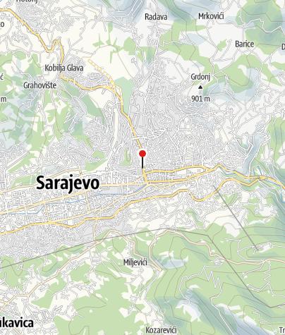 Map / Mountaineering Club Željezničar, Sarajevo
