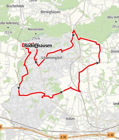 Karte / RadKulTour Rödinghausen