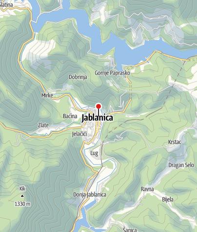 Map / Mountain- sport Club Vilinac