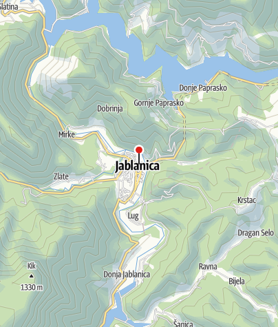 Map / Mountain- sport Club Vilinac