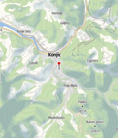 Map / Mountain Rescue Service - Konjic