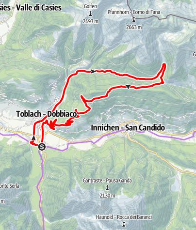 Mappa / Percorso Fatbike Dolomiti Slowbike