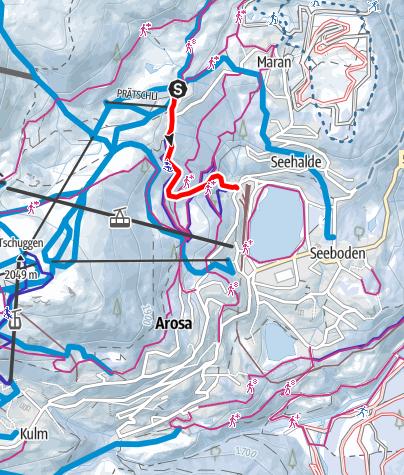 Map / Prätschli - Scheitenböden - Obersee lake