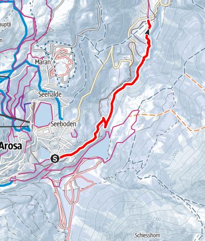 Kaart / Arosa Untersee - Litzirüti