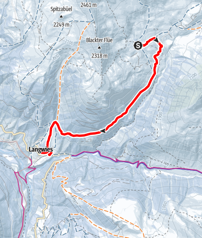 Map / Casanna Ski and Mountaing Guest House Fondei - Langwies