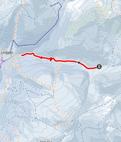 Karte / Berggasthaus Heimeli - Sapün - Langwies